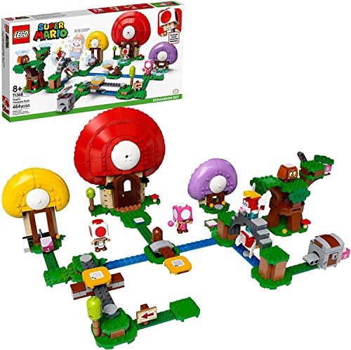 LEGO Super Mario Toad's Treasure Hunt Expansion Set 71368 Building Kit; Toy for Kids to Boost Their Super Mario Adventures with Mario Starter Course (71360) Playset (464 Pieces)