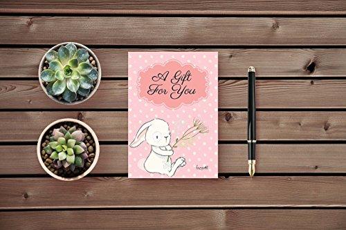 Tarjeta de Felicitación con Sobre | Frase:'A gift for you' | Cartulina de alta calidad (350 g/m2) en Formato A6