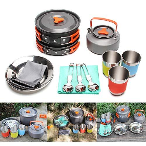 JACKBAGGIO New Aluminum Camping Pot Cookware Sets | Amazon