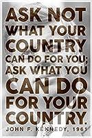 ERZAN1000ピース木製パズルジョンFケネディ大統領はJFKの有名な動機付けの心に強く訴える引用を求めない大人パズル のすべ