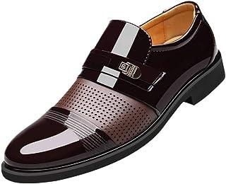 Zzzz Best-Choise Chaussures Oxford pour Hommes Chaussures Formelles à Lacets en Cuir Ox Style Confortable en Cuir Verni de...