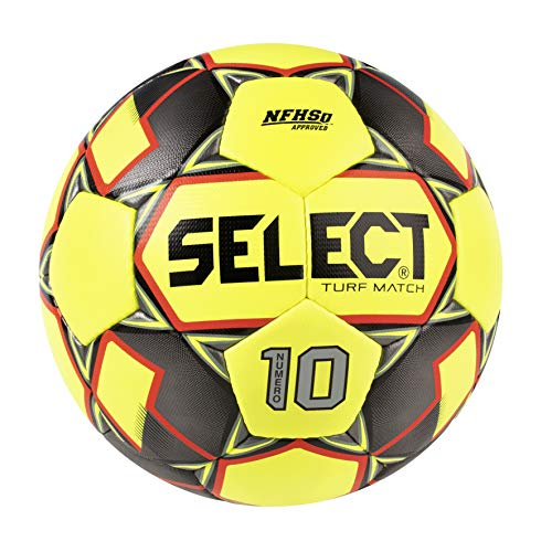 SELECT Numero 10 Match Turf Soccer Ball, Yellow/Black/Red, Size 5