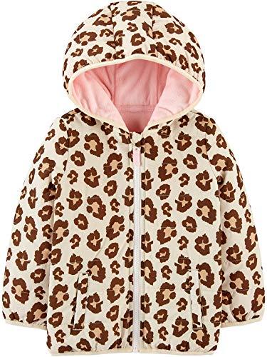 Simple Joys by Carter's - Chaqueta para niña pequeña, Estampado de Leopardo, 5T