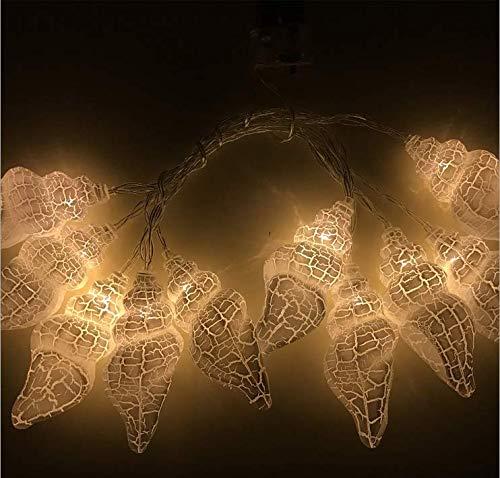 Creativo bianco caldo conchiglia vacanza lampadina luce camera da letto decorativa esterna luci LED luci stringa leggera 8m