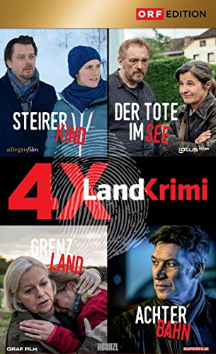 4x Landkrimi-Set: Steirerkind / Der Tote im See / Grenzland / Achterbahn [4 DVDs]