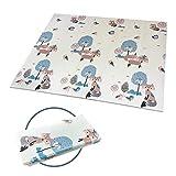 Baby Spiel Matte Spielmatte Verdickte Vergrößerte Schaumstoffmatte Faltbare Krabbelmatte Wasserdicht Tragbar Geeignet für Kinder(Fuchs)