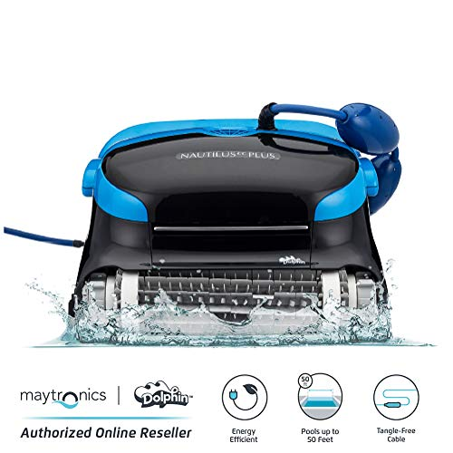 Dolphin Nautilus CC Plus Automatic Robotic Pool Cleaner with Easy to Clean Large Top Load Filter Cartridges and TangleFree Swivel Cord Ideal for Inground Swimming Pools up to 50 Feet