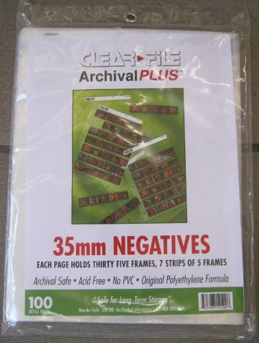 Archival 35mm Negative Saver Side Load Pack of 100