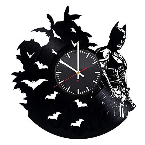 BorschToday Batman - Reloj de Pared con Registro de Vinilo