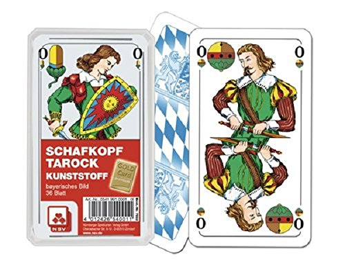 05419910001 - Nürnberger Spielkarten - Schafkopf Premium Kunststoff, bayerisches Bild im Klarsichtetui