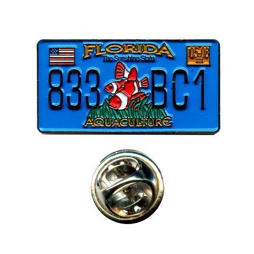 Florida Autokennzeichen FL USA US Bundesstaaten Amerika Badge Pin Anstecker 0673