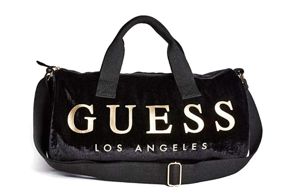 Guess Women's Velvet Logo Small Duffle Bag Handbag