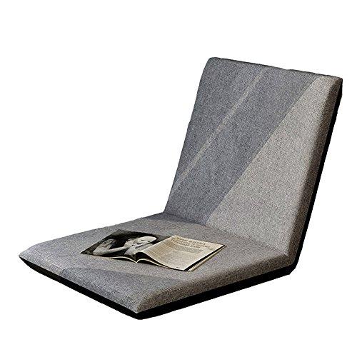 KFXL yizi Art de tissu chaise pliante simple créative/balcon individuel chaise de fenêtre de baie/chaise de dossier de canapé pratique/chaise molle de plancher (9 couleurs facultatives)
