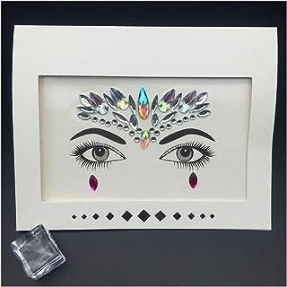 Qqinghan Gezichtsmest Rhinestone Tijdelijke Tattoo Juwelen Festival Party Body Eyes Glitter Stickers Flash Mermaid Tijdeli...