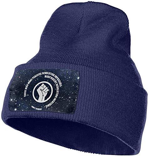 Voxpkrs Peaceful Revolution Men & Women Skull Caps Winter Warm Stretchy Knitting Beanie Hats