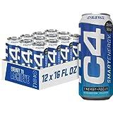 Cellucor C4 Smart Energy Sugar Free Energy Drink 16oz 12, (New) ICY Blue Razz, (Pack of 12), 16 Fl Oz