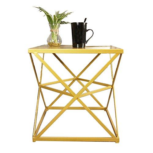 Side table-Q QFF Tabel, salontafel, bijzettafel, sofa, bijzettafel, nachtkastje, schrijftafel, make-uptafel, eettafel, massief hout + ijzer, materiaal 45 x 45 x 50 cm