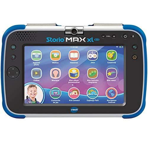 VTech – Tablet Storio Max XL 2 blau – 7 Zoll Kinder-Tablet 1{830dafe759e5ba4346f974b410f1c359622127941efd2c98ef1ede5c0b957428} Lernfunktion – französische Version