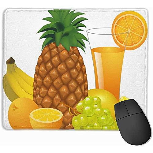 Antislip Mousepad sap en fruit banaan ananas oranje druif Gaming Mouse Pad Mat Rubber Base voor kantoor en thuis