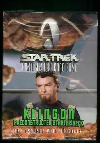 Star Trek Klingon Preconstructed Starter Deck The Trouble with Tribbles(Customizable Card Game/(60 black-border cards per deck+ rulebook))