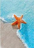 INlike Diamond Painting Kits Beach Starfish Paint with Diamonds Kit Full Drill Beach Starfish Diamonds Art Kit for Kids Adults,12×16 inches