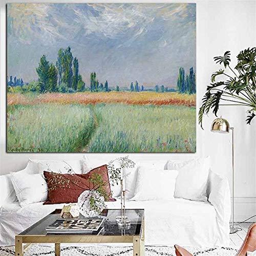 sanzangtang Leinwanddrucke Weizenfeld Wandkunst dekorative Bild Wohnkultur Wohnzimmer Sofa Wanddekoration30x40cmRahmenlose Malerei