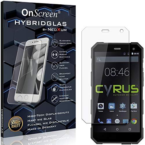 OnScreen Schutzfolie Panzerglas kompatibel mit Cyrus CS24 Panzerfolie & Glas = biegsames HYBRIDGLAS, Bildschirmschutz, splitterfrei, Anti-Fingerprint KLAR - HD-Clear