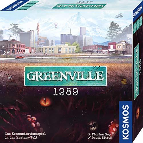 KOSMOS 680039 Greenville 1989, Zurück in die Wirklichkeit. Das KommunikationsSpiel in der MysteryWelt, für 3 6 Spieler ab 16 Jahre, kooperatives Gesellschaftsspiel in deutscher Sprache