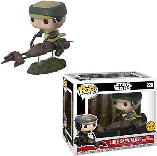 Funko Luke Skywalker con Speeder Bike (edición Chase) POP! x Star Wars - Figura de vinilo de...
