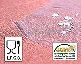 Meine-Tischdecke Schutz Transparent (ca. 0,3mm stark) PVC Folie LFGB Lebensmittelecht - abwaschbare Wunschmaß 100cm x 140cm - 2