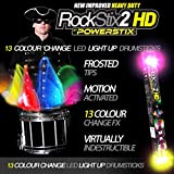PAIR of ROCKSTIX 2 PRO - COLOUR CHANGING LED LIGHT UP DRUM STICKS