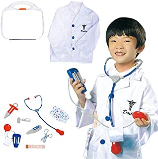 Yalla Baby Kids Doctor Costume for Kid Boys & Girls, Dress up Role Play Set (3-8 Years, 80-110cm)(0967)