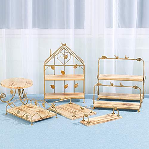 BLLXMX Dessert Display Holz Kuchen Stand Anzug, Für Dessert Shops Cake Shops Cafeterias Home Decoration, Natürlicher Umweltschutz Leicht zu reinigen