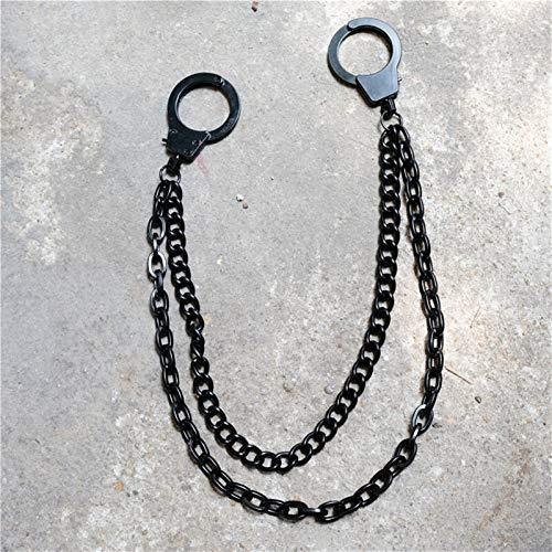 Accesorios de cadena de pantalones estilo hip-hop Fashion Men's Jewelry Wallet Cadena Cintura Punk Gancho Pantalones de plata Pantalones Pantalones Cinturón Cadena Joyería Llavero Pantalones Cadena Pa
