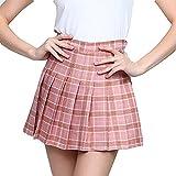Kunfang Mujeres Falda Plisada Harajuku Estilo Preppy Faldas A Cuadros Mini Lindos Uniformes Escolares Japoneses Falda Kawaii