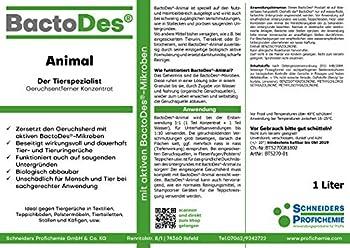 BactoDes Animal Désodorisant concentré anti-odeurs pour animaux