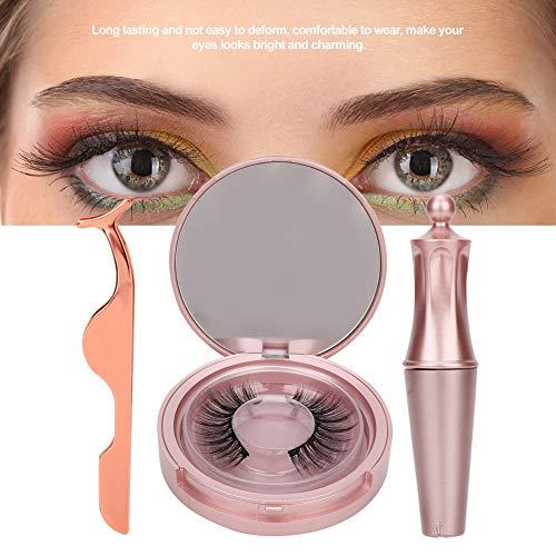 Magnetische Eyeliner en Wimpers Kit, Waterdichte Vloeibare Eyeliner Natuurlijke Valse Wimpers Kit Magnet Fake Eyelashes Wimpers Pincet voor vrouwen natuurlijke make-up.(005)