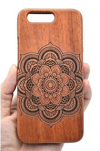 RoseFlower® Holz Schutzhülle für Huawei Honor 9 (5,15 Zoll) - Palisander Baum außergewöhnlichen Handyhülle - Natürliche Handgemachte Bambus/Holz Schutzhülle Handytasche Handy Case Cover