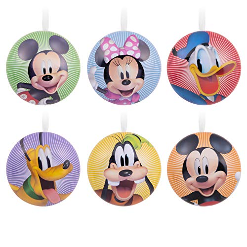Hallmark Christmas Ornaments, Disney Mickey Mouse and Friends Metal Tins, Set of 6