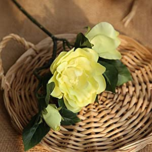 Artificial and Dried Flower 4 Colors 3 Heads Silk Gardenia Artificial Flower Wedding Silk Flowers for Home Wedding Decoration Party Fake Flower