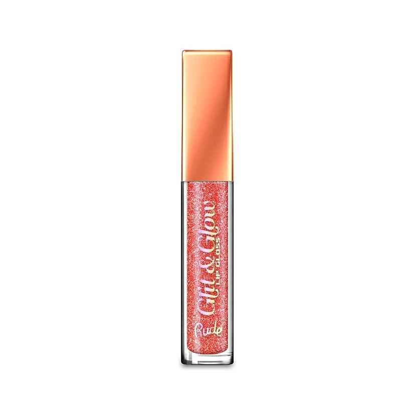 予測子戻るローズ(6 Pack) RUDE Glit & Glow Lip Gloss - Read My Lips (並行輸入品)