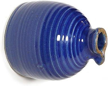 Modern Artisans American Handmade Stoneware Peek-a-Boo Birdhouse Bottle, Royal Blue Color