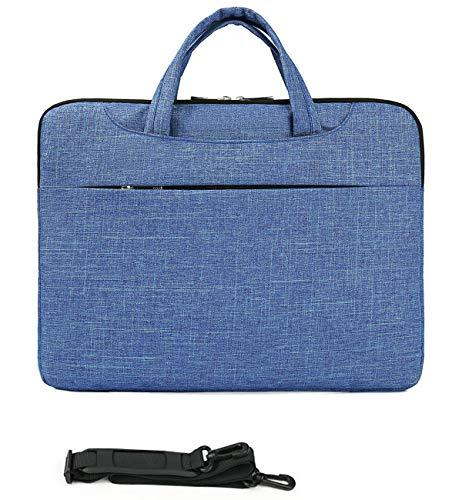 MUBUY 13.3 14 Inch Fashion Laptop Sleeve Case Bag with Shouler Straps for HP Pavilion 14/Stream 14/Chromebook 14 |Envy/Spectre 13 |Lenovo Yoga 13/Thinkpad 14 |Dell Insprion 13 14/Latitude 14 -Blue