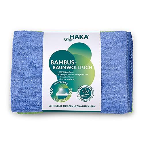 HAKA Bambus-Baumwolltücher I 2 Stück I Reinigen und Abstauben I Für alle empfindlichen Oberflächen