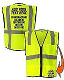 Customized Reflective Safety Mesh Vest Personalized High Visibility Zipper Vest
