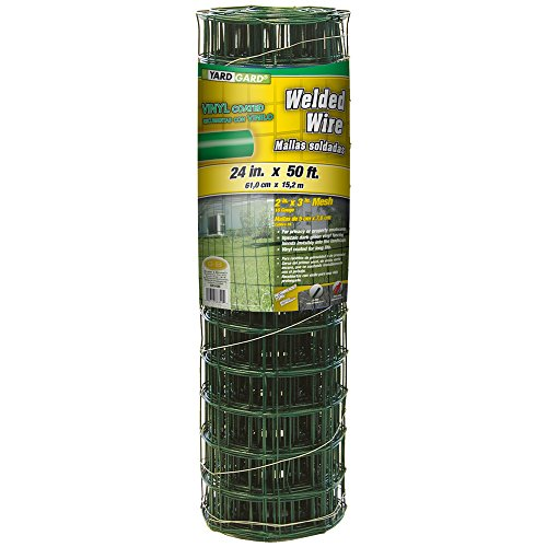 YARDGARD 308349A 24 inch by 25 Foot 16 Gauge 2 inch by 3 inch mesh Junior roll PVC Welded Wire
