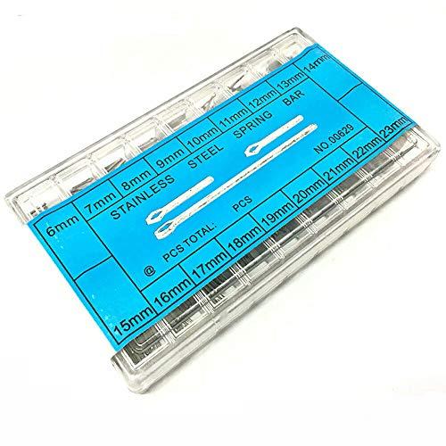 Uhrenarmband-Stift-Set, Vogueing-Werkzeug, Splinte, 6–23 mm, Edelstahl, Verbindungsstifte, Federstege für Uhrenarmband, Ersatz (270 Stück)