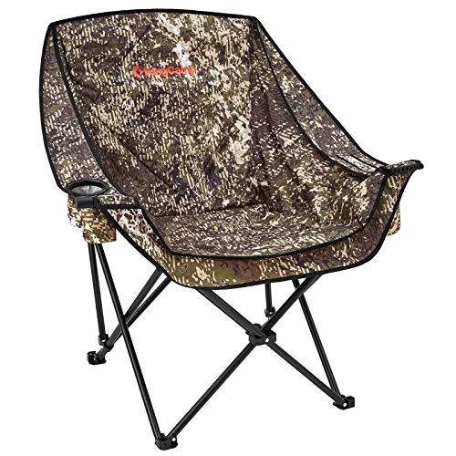 KingCamp Campingstuhl Camping Klappstuhl XXL bis 150kg Outdoorstuhl mit Kühltasche und Getränkehalter für Outdoor Zelten Picknick Wandern