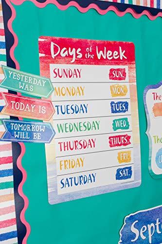 Teacher Created Resources Watercolor Calendar Bulletin Board - 8971 Photo #5