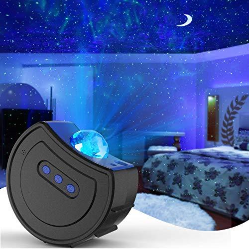Hisome Star Projektor Nachtlicht, LED Sternennacht Licht Projektor Dynamische Wolken Romantischer Sternenhimmel Kinder Erwachsene Schlafzimmer Licht für Home Party Bühnenhochzeit (Schwarz)